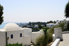 Tunisian's landscape. Tunisian's restaurant, tunisia sidi bou said Royalty Free Stock Images