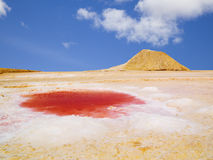 Tunisian Salty Desert Royalty Free Stock Images