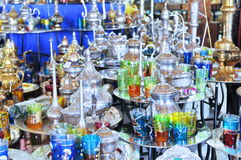 Tunisian souvenirs. In the market stock photography