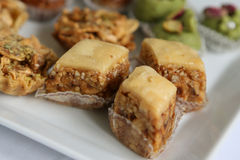 Tunisian sweets - baklawa Royalty Free Stock Photo