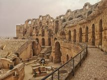 Ruins of El jem stock images