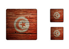 Tunisien flaggaknappar Royaltyfria Bilder