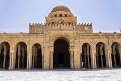 Tunisien Kairouan moské Arkivbilder