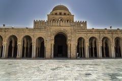 Tunisien Kairouan moské Arkivfoto