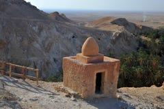 Tunisien oas Chebika arkivbilder