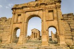 Tunisien Sbeitla royaltyfri fotografi