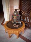 Tunisien traditionell varm olje- lampa Royaltyfri Fotografi