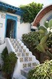 Tunisisk husingång Arkivfoto