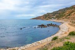 Tunisisk kustlinje Royaltyfri Foto