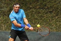 Tunisisk tennisspelare Malek Jaziri Fotografering för Bildbyråer
