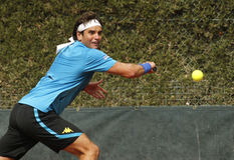 Tunisisk tennisspelare Malek Jaziri Arkivbilder