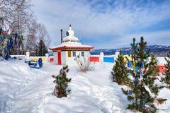 TUNKINSKY DISTRICT ,BURYATIA ,RUSSIA - March,09,2016: Stupa Royalty Free Stock Image