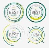 Tunn linje proper designlogouppsättning, högvärdig kvalitet vektor illustrationer