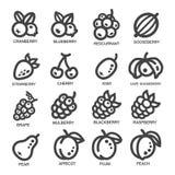 Tunn linje symbol för frukt Royaltyfri Foto