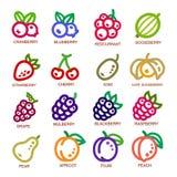 Tunn linje symbol för frukt Royaltyfri Bild