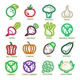 Tunn linje symbol för grönsak Arkivfoto