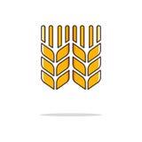 Tunn linje symbol för vetefärg också vektor för coreldrawillustration Fotografering för Bildbyråer