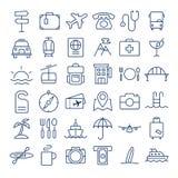 Tunn linje symbolsuppsättning för lopp Fotografering för Bildbyråer