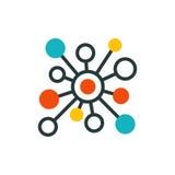 Tunna linjer anslutningssymbolsöversikt av stort tillträde för lösenord för skydd för internet för system för beräkning för dator royaltyfri illustrationer