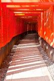 Tunnal di Torii al santuario di Fushimi Inari Taisha immagini stock