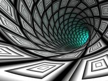 Tunnel à carreaux, 3D illustration stock