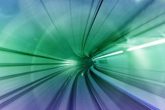 tunnel à l'avenir Photo stock
