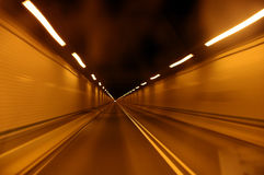Tunnel à la vitesse Photo stock