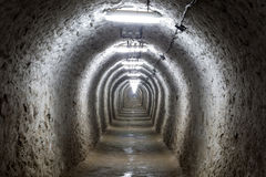 Tunnel. A tunnel from Turda salina Stock Images