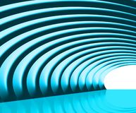 Tunnel. Illustration of a blue 3d tunnel Royalty Free Stock Photography
