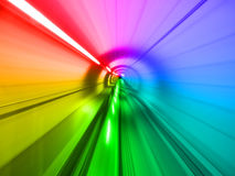 Through the tunnel Royalty Free Stock Photography