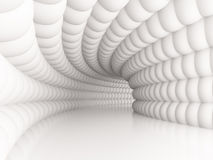 Tunnel. 3d Illustration of White Tunnel Background or Wallpaper stock illustration