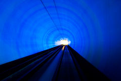Tunnel. Abstract train moving in tunnel Royalty Free Stock Photos