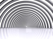 Tunnel. Computer generated abstract tunnel on white background Stock Image