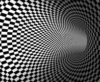 Tunnel. Abstract black and white tunnel stock illustration
