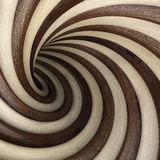 Tunnel. Abstract wood twisted tunnel. 3d image Royalty Free Stock Photography