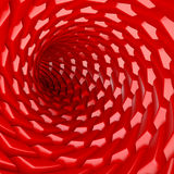 Tunnel. Abstract spiral tunnel. 3d image Royalty Free Stock Images