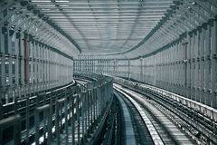 Tunnel. Train tunnel in Tokyo Japan Royalty Free Stock Photo