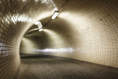 Tunnel. Mysterious tunnel for walkers, Prague Stock Photography