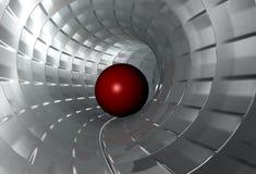 Tunnel. Digital image 3d virtual tunnel royalty free illustration