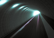 Tunnel. Purple Abstract blurred speed tunnel Royalty Free Stock Images