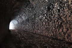 Tunnel. The bright light at the end of the tunnel Royalty Free Stock Photography