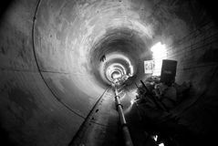 Tunnel. Underground tunnel located in Mexico city Stock Photo