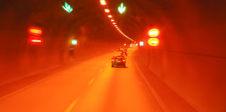 Tunnel. French tunnel in motion blur Royalty Free Stock Photography