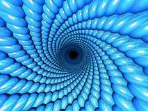 Tunnel 3d bleu Photos stock
