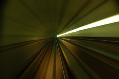 Tunnel. Abstract train moving in tunnel Stock Image