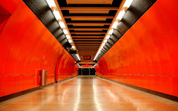 Tunnel. In subway (MTR) station of Hong Kong Stock Images