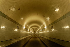 Tunnel. Old Elbtunnel in Hamburg, germany Royalty Free Stock Image