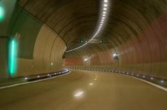 Tunnel. Slow driving inside a tunnel royalty free stock images