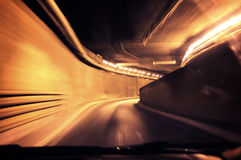 Tunnel. Dynamic photo of a tunnel royalty free stock photos
