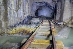 Tunnel abbandonato della miniera Fotografie Stock Libere da Diritti